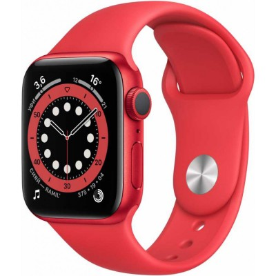 Смарт-часы Apple Watch Series 6 GPS, 40mm PRODUCT(RED) Aluminium Case with PRODUCT(RED) Sport Band (M00A3RU/A) оптом